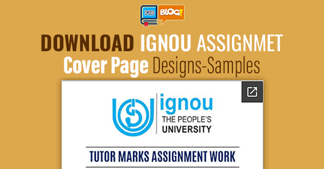 Download Ignou Assignments Cover Page Design Fyb Blog