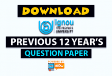 IGNOU Papers: Download Previous Question Papers