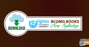 ignou BCOMG books new syllabus