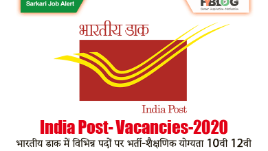 Photo of भारतीय डाक वैकेंसी 2020 – India Post Office Recruitment 2020- Sarkari Job News